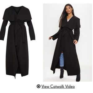 Pretty Little Thing Maxi Waterfall Coat